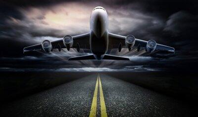 Плакат Airplane on the runway