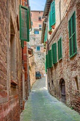 Плакат Аллея в старом городе Тоскана Италия