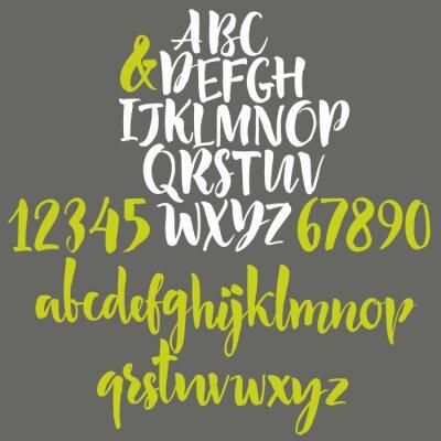 Плакат Алфавит буквы: строчные, прописные и цифры.
