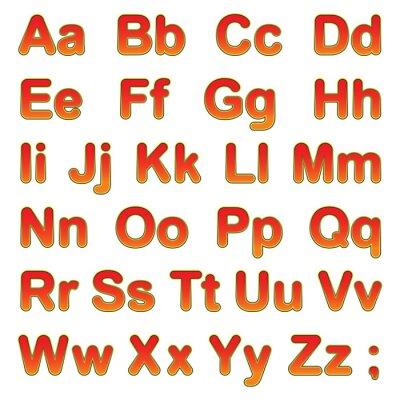 Плакат Алфавит буквы на черном фоне