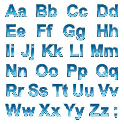 Плакат Алфавит псевдо 3d букв