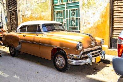 Плакат Американские и советские автомобили 1950 - 1960 из Гаваны.