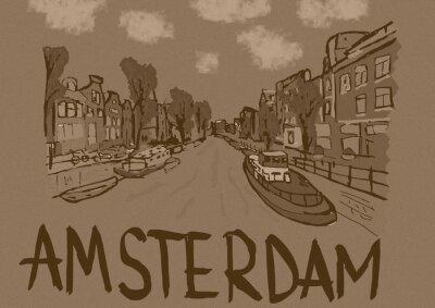 Плакат Amsterdam vintage
