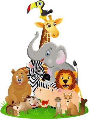 Плакат Животных мультфильм