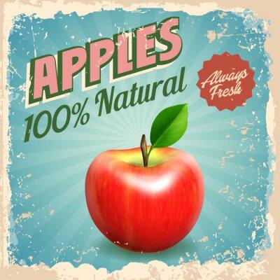 Плакат яблоки сбора винограда