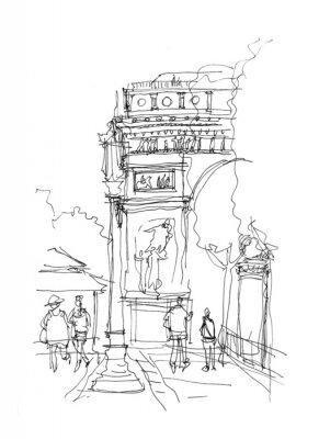Плакат Триумфальная арка эскиз