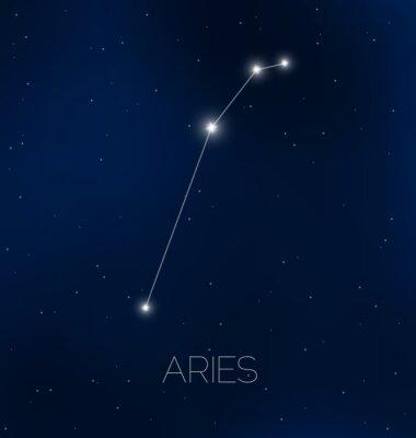 Плакат Овен созвездие в ночном небе