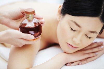 Плакат Ароматическое масло для массажа