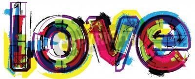 Плакат Художественный слово любовь