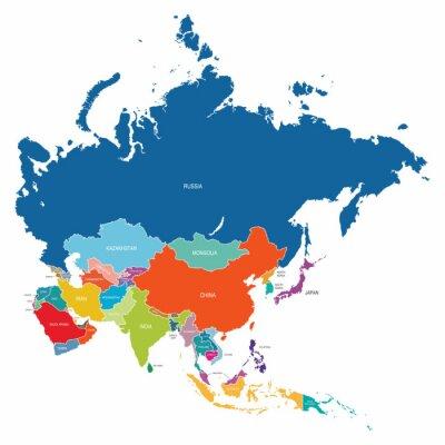 Плакат Азия Карта