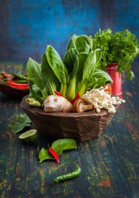 Плакат Азиатские Пищевые ингредиенты