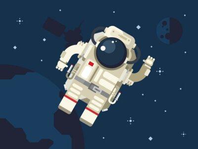 Плакат Астронавт в космическом пространстве