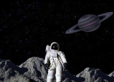 Плакат Астронавт на поверхности Луны