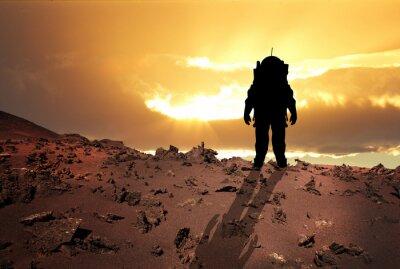 Плакат Астронавт на Марс