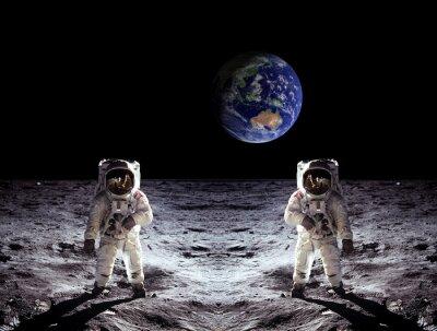 Плакат Астронавты Moon Landing Земля