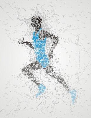 Плакат дизайн спортсмен