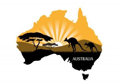 Плакат Австралийский континент
