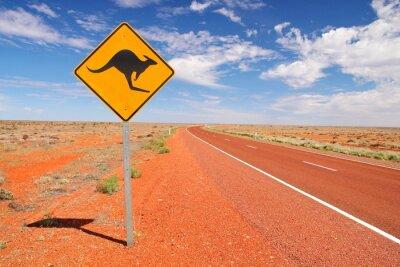 Плакат Австралийские бесконечные дороги
