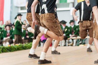 Плакат Австрия народный танец