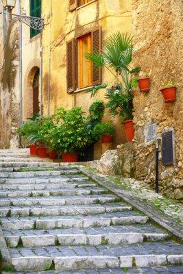 Плакат подлинные средневековые деревни Италии - Casperia