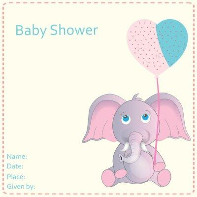 Плакат Baby Shower Приглашение