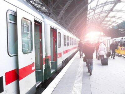 Плакат Bahnhofsverkehr