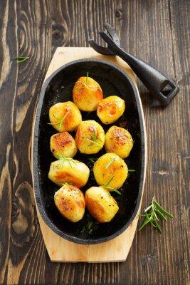 Плакат Печеный картофель с розмарином.