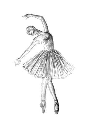 Плакат балерина