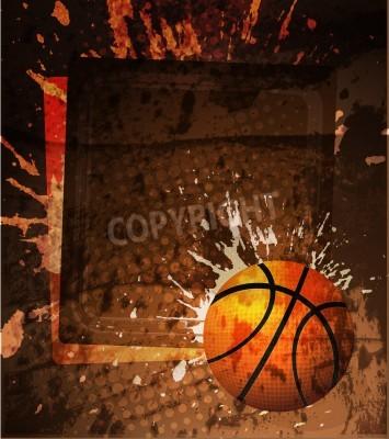 Плакат Баскетбол Рекламный плакат. Векторная иллюстрация