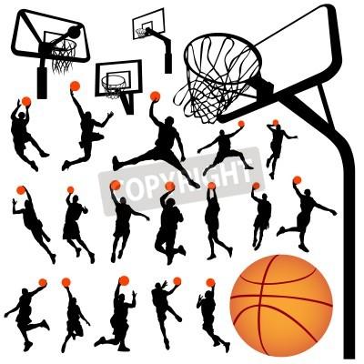 Плакат баскетбол и щит вектор