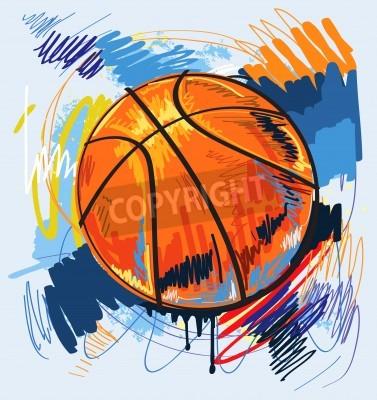 Плакат баскетбол дизайн цвет фона