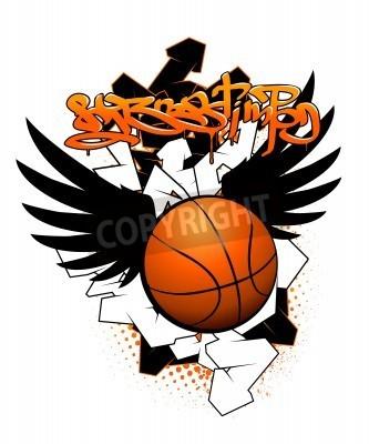 Плакат Basketball graffiti image