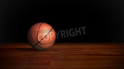 Плакат basketball on the wood floor graphic background