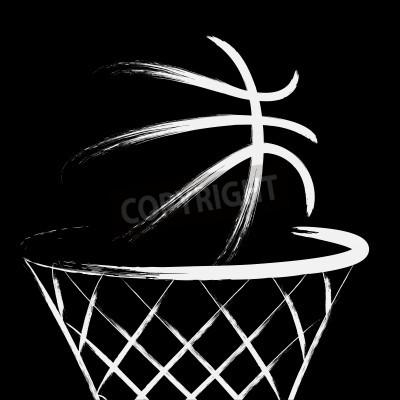 Плакат Баскетбол, вектор