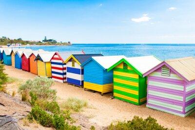 Плакат Купание коробки на Брайтон-Бич, Австралия