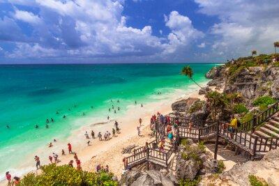 Плакат Красивый пляж Тулум в Мексике