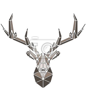Плакат Beautiful deer geometric triangle shape design