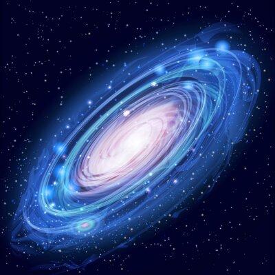 Плакат Красивая светящийся Вектор Галактика Андромеды