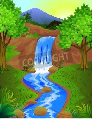Плакат Красивый водопад