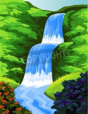 Плакат Beautiful waterfall