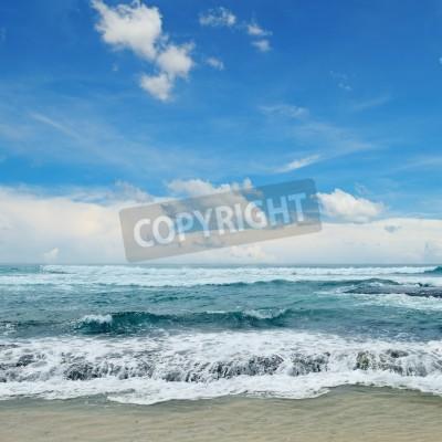 Плакат красивые волны в море