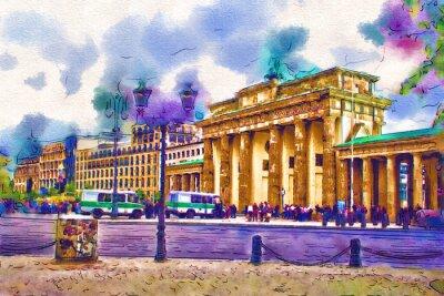 Плакат Берлин искусства иллюстрации