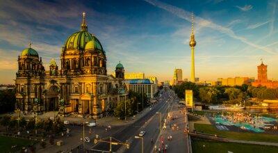 Плакат Берлин - вид на город
