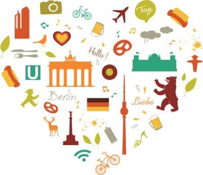Плакат Берлин Сердце