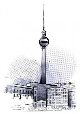 Плакат Берлин Эскиз