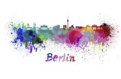 Плакат Берлин горизонт акварелью
