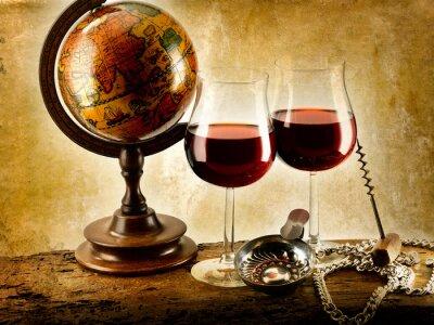 Плакат Bicchieri ди Vino Rosso