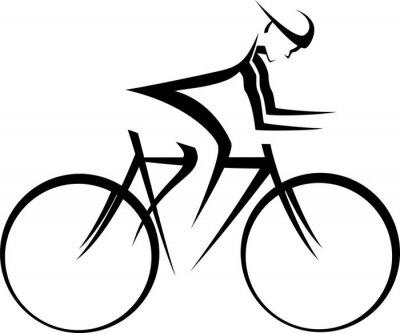 Плакат Велогонщик Акцент