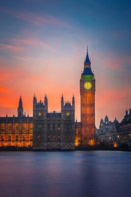 Плакат Большой Бен и палат парламента, Лондон