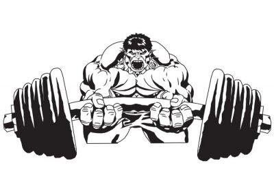Плакат Большой вес